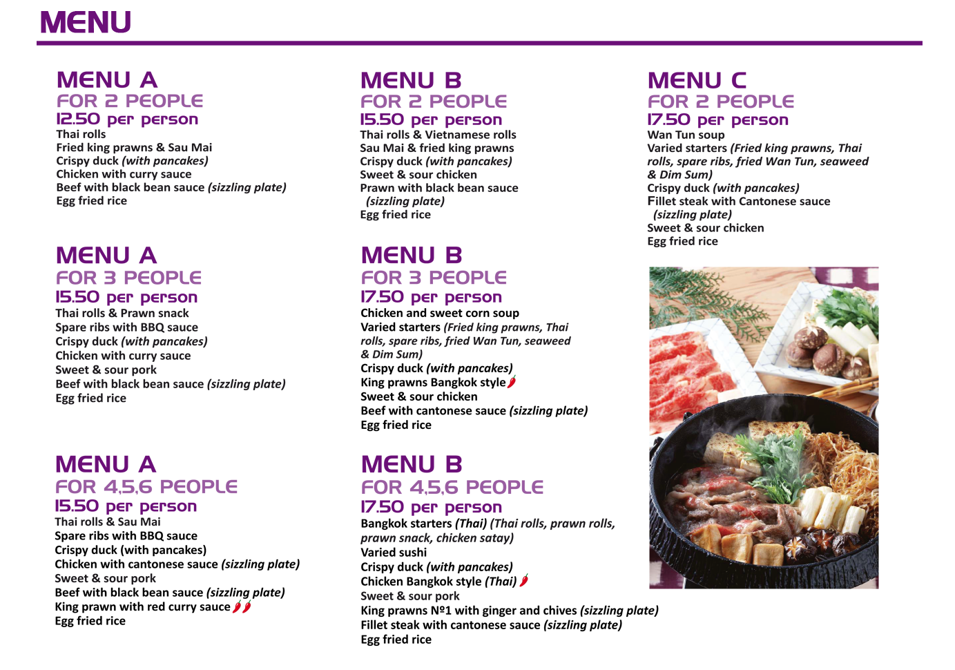 carta-ingles menus